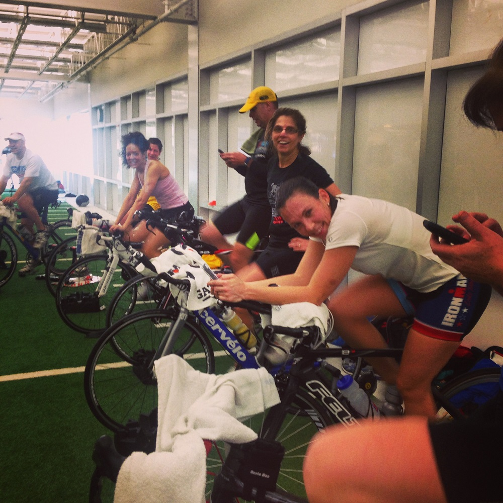 Riding the trainer with a group or with friends makes it more enjoyable.