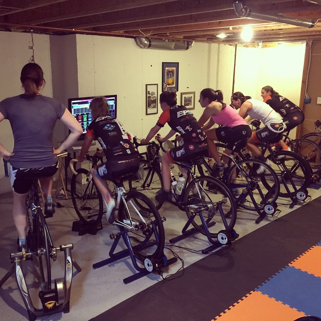 Group Computrainer session