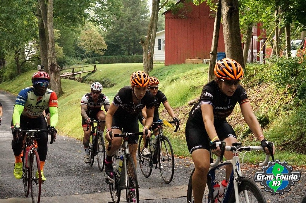 Suffering up one of the NJ Gran Fondo Hill Climbs. Pushing yourself harder than you thought you could is one of the steps to achieving your goals.